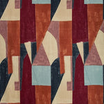 Groundworks District Claret Fabric