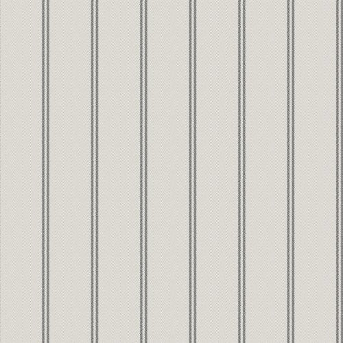 Winfield Thybony Ticking Stripe Charcoal Wallpaper - Wallpaper