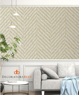 Winfield Thybony Chevron Blonde Wallpaper
