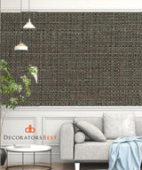 Winfield Thybony Bouquet Weave Graphite Wallpaper
