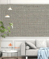 Winfield Thybony Bouquet Weave Oyster Wallpaper