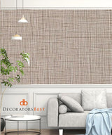 Winfield Thybony Shelter Linen Mocha Wallpaper