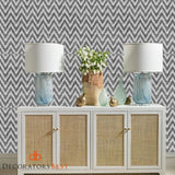 Winfield Thybony Ziggy Charcoal Wallpaper