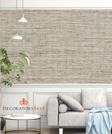 Winfield Thybony Metallic Sisal Linen Wallpaper