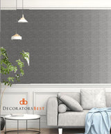 Winfield Thybony Crosshatch Weave Slate Wallpaper