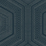 Winfield Thybony Concentric Groove Deep Navy Wallpaper