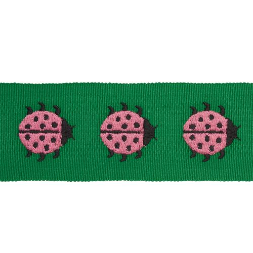 Schumacher Ladybird Tape Pink & Green Trim - Trim
