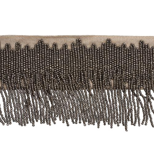 Schumacher Starling Beaded Fringe Pewter Trim - Trim