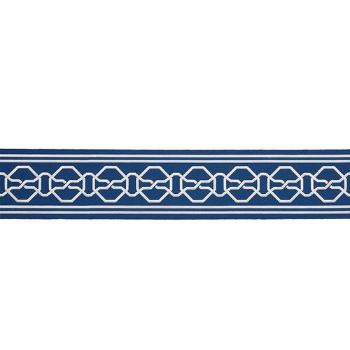 Schumacher Malmaison Tape Blue Trim - Trim