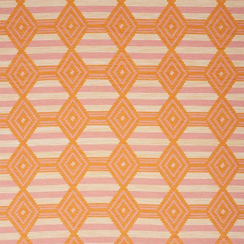 Schumacher Manta Performance Pink & Orange Fabric - Fabric