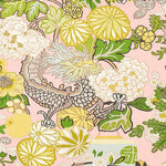 Schumacher Chiang Mai Dragon Blush Fabric