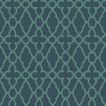 Cole & Son Treillage Viridian/Ink Wallpaper