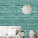 Phillip Jeffries Glam Grass Ii  Cultured Turquoise Wallpaper
