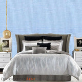 Phillip Jeffries Harmony Herringbone Calm Skies Wallpaper