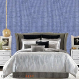Phillip Jeffries Leos Luxe Linen Ii Leo'S Luxe Linen Ii  Betty Blue Wallpaper