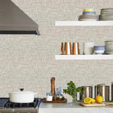 Phillip Jeffries Vinyl Grassland Taupe Wallpaper
