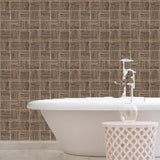 Phillip Jeffries Vinyl Square Dance Banjo Brown Wallpaper