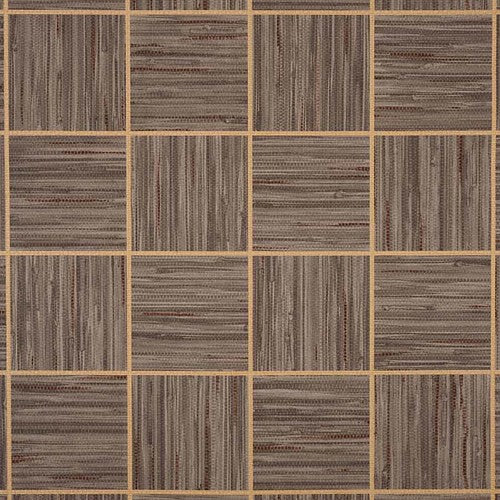 Phillip Jeffries Vinyl Square Dance Banjo Brown Wallpaper - Wallpaper