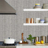 Phillip Jeffries Vinyl Wicker And Vinyl Wicker Checked Vinyl Wicker  Guiding Grey Wallpaper