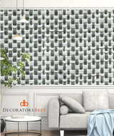 Winfield Thybony Channel Weave Greigep Wallpaper