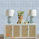 Winfield Thybony Ziggy Powder Bluep Wallpaper