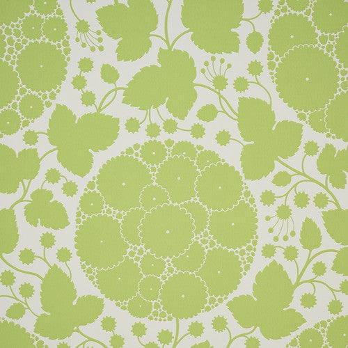 Schumacher Marianne Leaf Wallpaper - Wallpaper