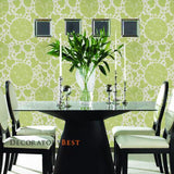 Schumacher Marianne Leaf Wallpaper