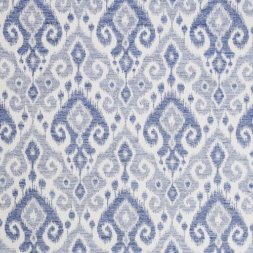 Schumacher Dedra Performance Indigo Fabric - Fabric