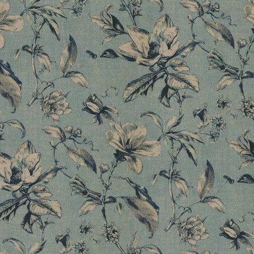Waverly Sweet Bay Ink Fabric - Fabric