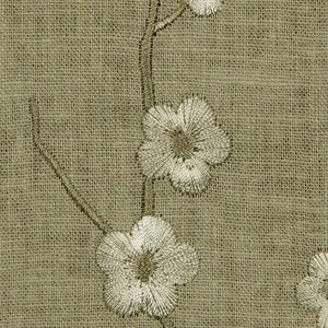 Robert Allen Budding Petals Cement Fabric - Fabric