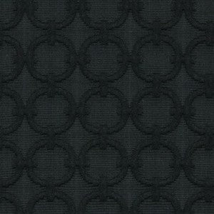 Robert Allen Raised Circle Ebony Fabric - Fabric