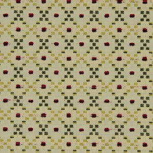 Robert Allen Dotted Boxes Berry Crush Fabric - Fabric