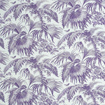 Schumacher Toile Tropique Purple Fabric