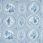 Schumacher Les Scenes Contemporaines Blue Fabric