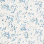 Schumacher Toile De La Prairie Blue Fabric