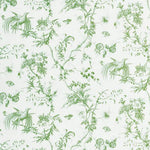 Schumacher Toile De La Prairie Green Fabric