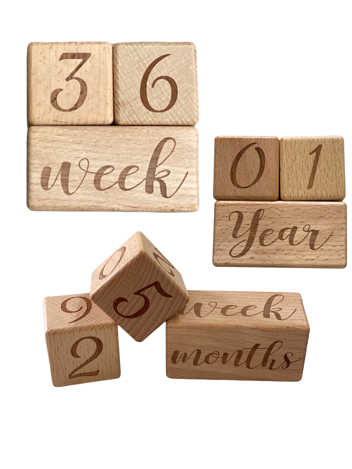 Wooden Milestone Blocks