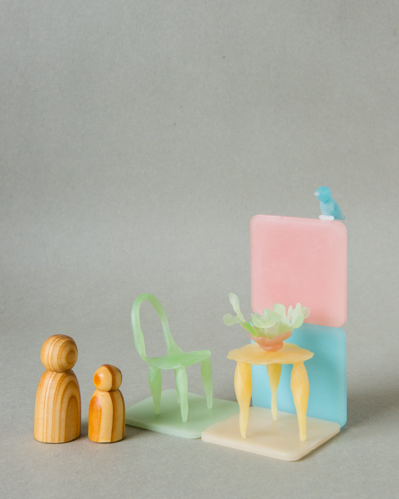 modelling beeswax, open ended waldorf toy organic beeswax toy handmade in india, art materials, 12 pastel colours, chair