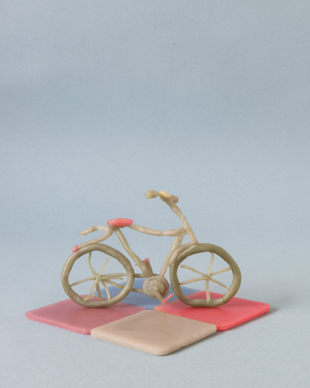 modelling beeswax, open ended waldorf toy organic beeswax toy handmade in india, art materials, 12 pastel colours, bicycle