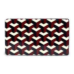 Ideal Minaudiere Clutch - Maroon