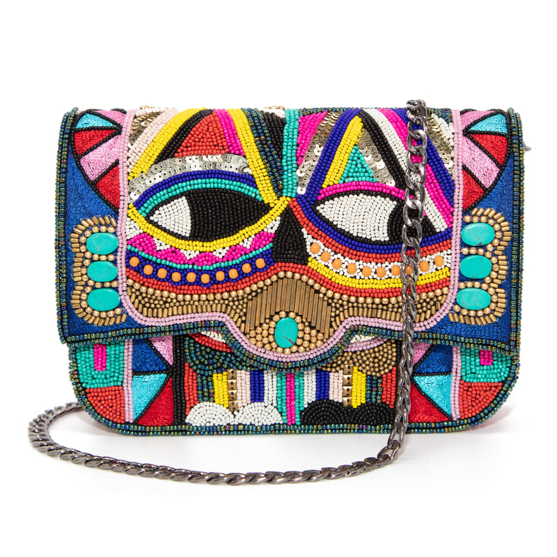 Sita - Hand Embroidered and Beaded Clutch