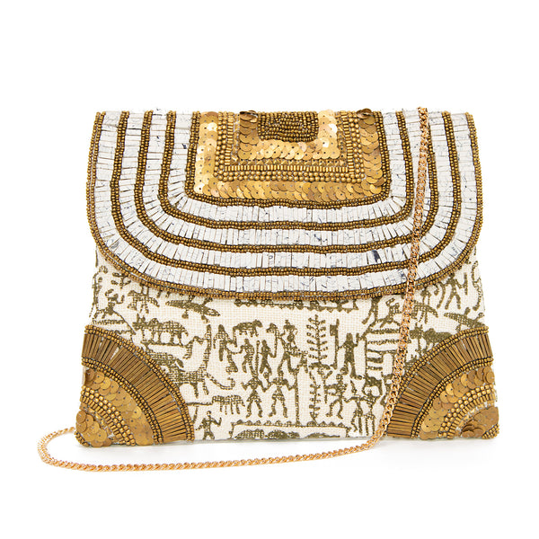 Maharani - Stone and Beaded Clutch