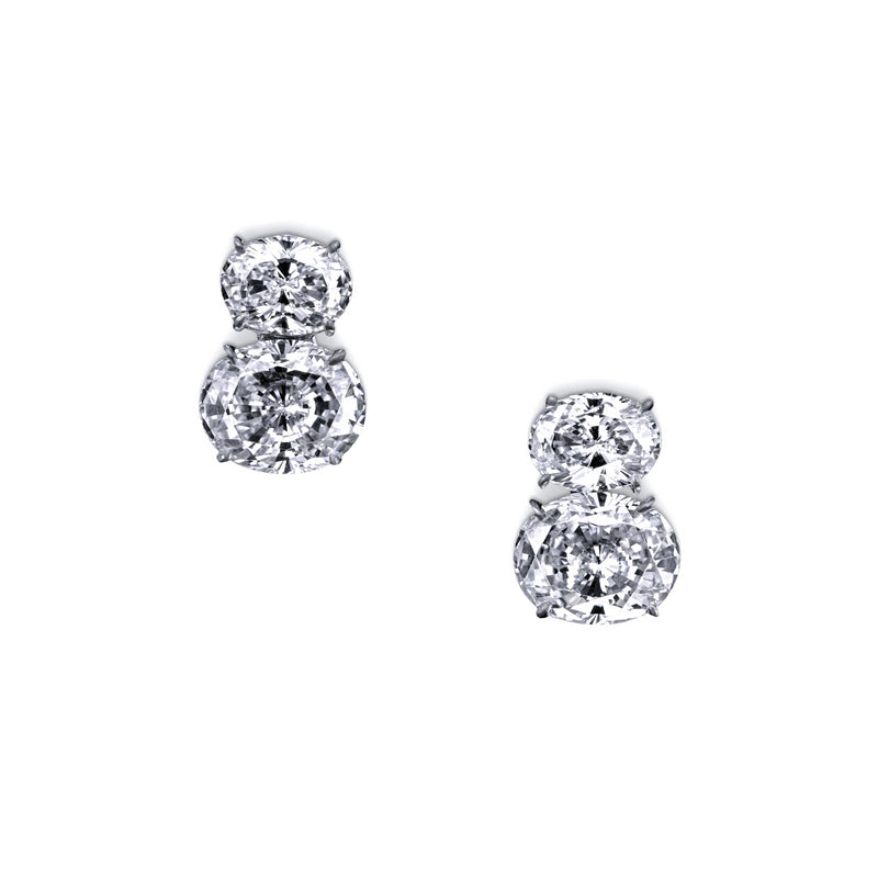Double Oval Studs – 7 CTW