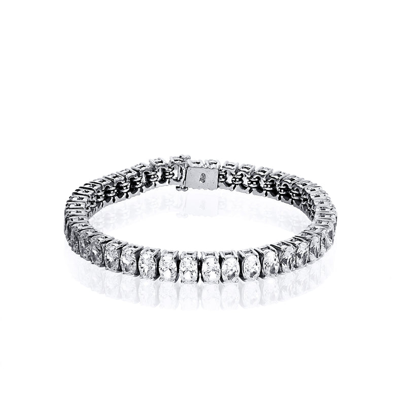 Oval Cut Tennis Bracelet – 21 CTW