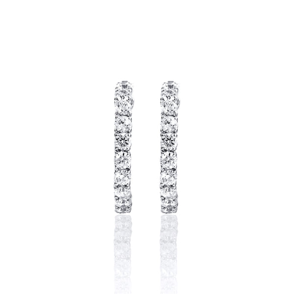 Round Hoop Earrings – 3.5 CTW
