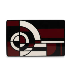 Metropolis Rectangular Minaudiere Clutch - Red