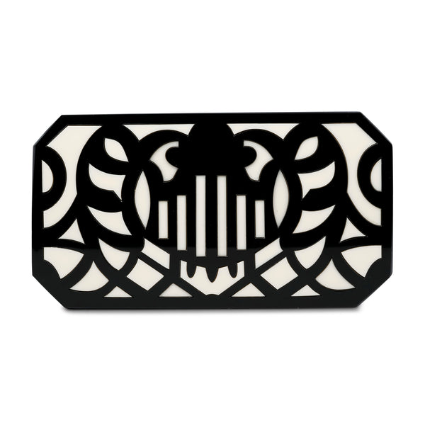 Bandoneon Minaudiere Clutch - Ivory