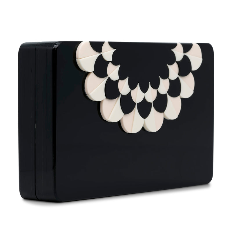 Gloria Rectangle Minaudiere Clutch - Rose