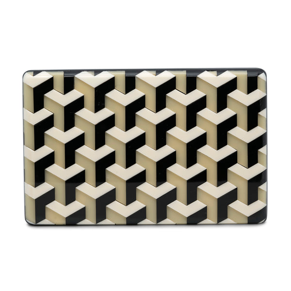Ideal Minaudiere Clutch - Honey/Black