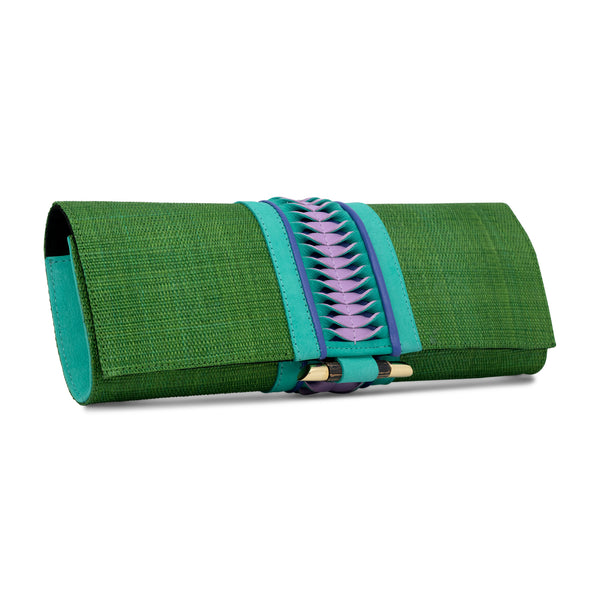Baguette Clutch - Dark Green